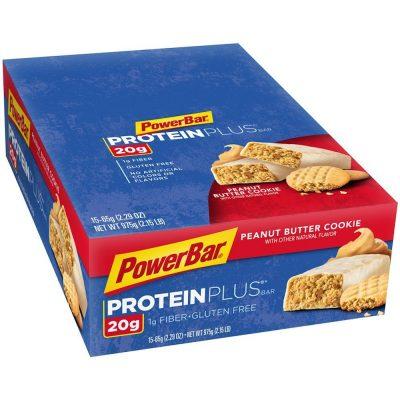 PowerBar Protein Plus Bar, Peanut Butter Cookie, 2.29 oz Bar, (15 Count) On Sale Just $9.83 (Reg $23.72 )