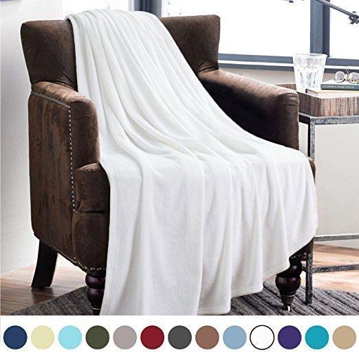 Lightweight Cozy Plush Microfiber Solid Blanket On Sale
