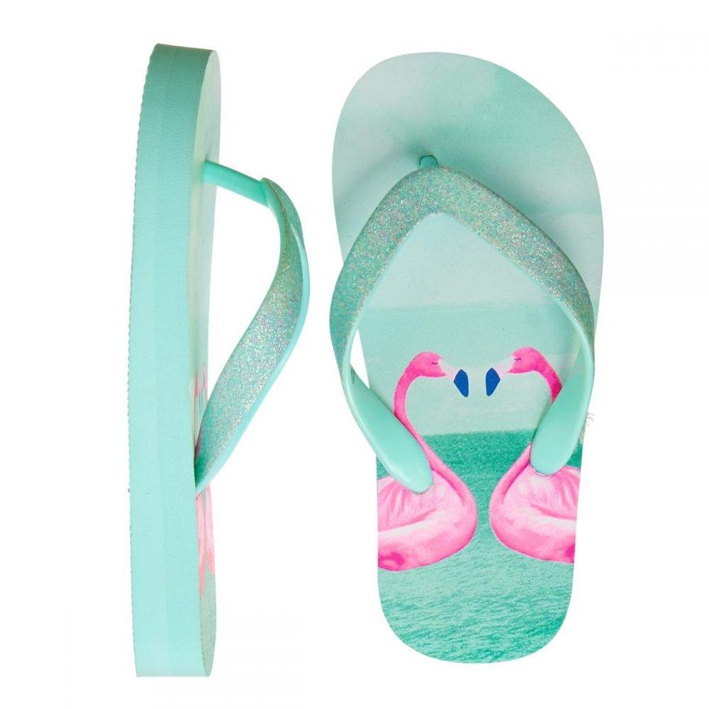 Girl's Flamingo Flip Flops (Size 2-3 Only) On Sale Just $4.79 (Reg $16.95)