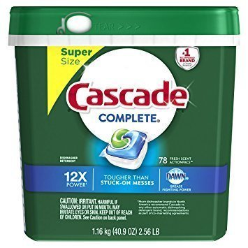 Amazon: 78-Count Cascade Complete ActionPacs Dishwasher Detergent