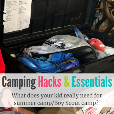 Sleep Away Camp Essentials & Camping Hacks for Boy Scout Camping, Summer Camp, Etc