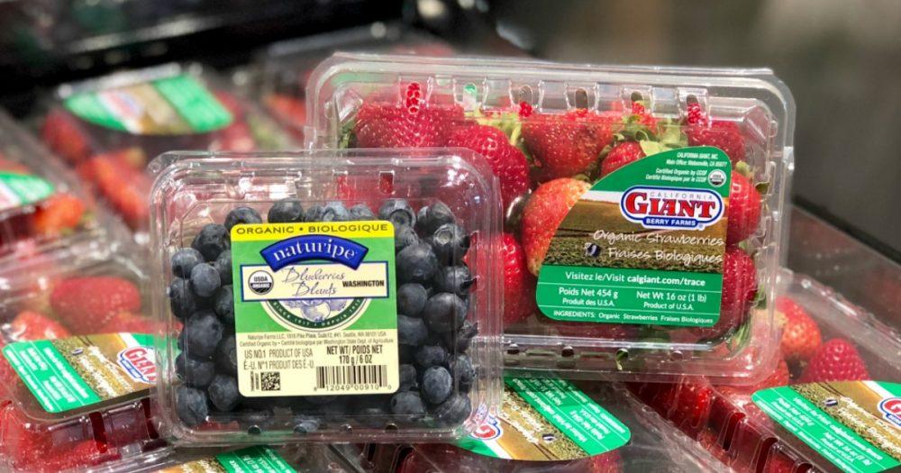 Target – 25% Off Organic Strawberries & Blueberries