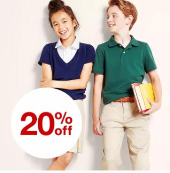 Target – 20% Off Cat & Jacks Kids' School Uniforms!