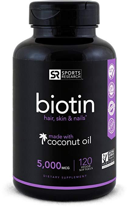 Biotin (High Potency) 5000mcg Per Veggie Softgel On Sale Just $11.15 (Reg $29.95 ) – Lightning Deal!