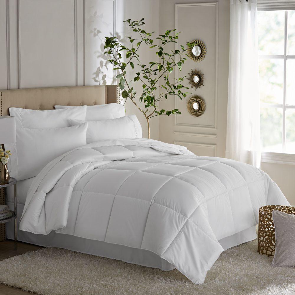 Hotel Style Oversized Down Alternative King Comforter, White On Sale Just $23.46 (Reg.  $65.18)