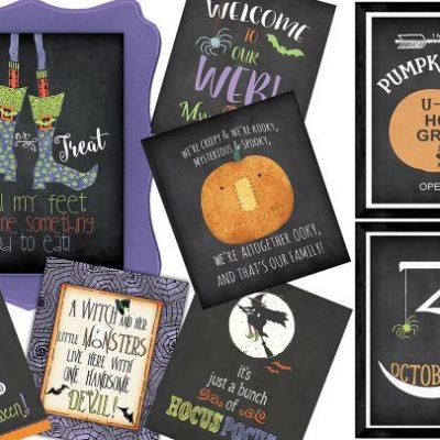 Happy Haunts Halloween Print Blowout On Sale Just $3.24 (Reg $10)
