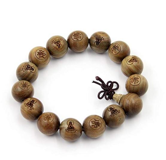 Large Beads 15mm Tibetan Buddhist Green Sandalwood Beads Prayer Mala On Sale Just $6.39
