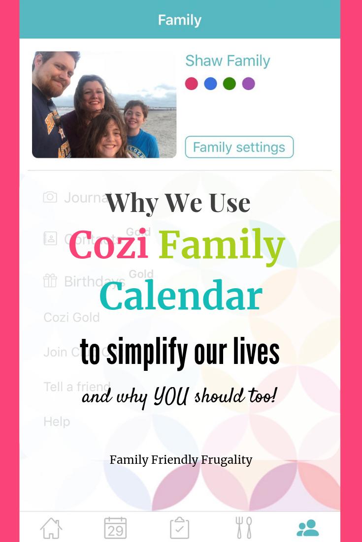 what is cozi family calendar
