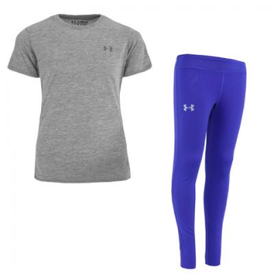 Under Armour Girl's T-Shirt and ColdGear Leggings for $18 (Reg $59.98)