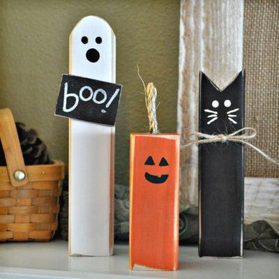 Wood Halloween Trio Just $9.99 (Reg $19.99)