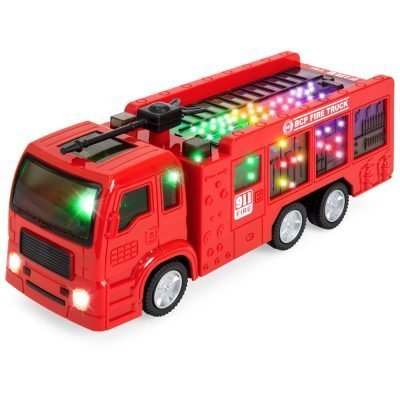 Best Choice Products Toy Fire Truck Electric Flashing Lights and Siren Sound, Bump and Go Action Just $9.99 (Reg.  $28.99)