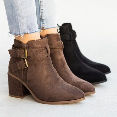 Criss-Cross Buckle Booties / Free Shipping Just $34.99