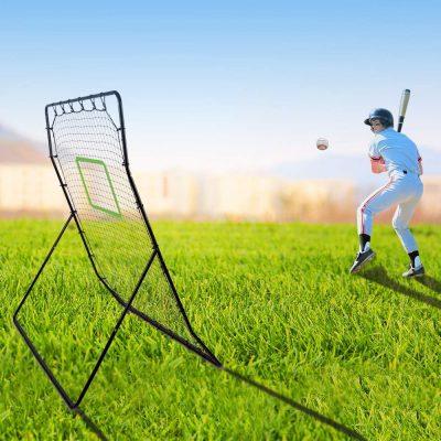 Portzon Pitch Back Baseball/Softball Rebounder, Multiple Baseball Softball Net,Adjustable Angle Pitchback Trainer *Holiday Savings*