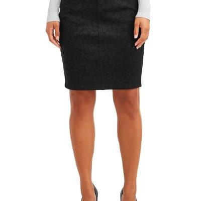 Sofia Jeans Liliana Animal Leopard Foil Pencil Skirt Women's Just $8.13 (Reg.  $19.5)