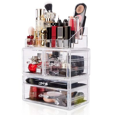Makeup Organizer 3 PiecesAcrylic Cosmetic Storage Large Drawers and Jewelry Display Box *Great Deal!*