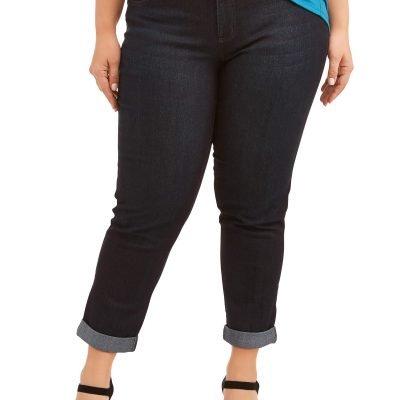 Just My Size Women's Plus-Size Boyfriend 5 pocket Stretch Jean Just $14 (Reg.  $21.87)