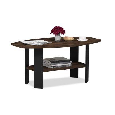 FURINNO Simple Design Coffee Table, Columbia Walnut/Black *Great Deal!*