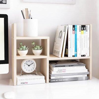 Jerry & Maggie – Desktop Organizer Office Storage Rack Adjustable Wood Display Shelf – $24.99 (REG. $27.99)