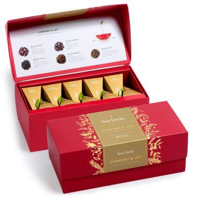 Tea Forte Warm Wishes Presentation Box Tea Sampler, Assorted Variety Tea Box, 20 Handcrafted Pyramid Tea Infuser Bags – Black Tea, Herbal Tea, White Tea – $18.41 ($0.92 / Count) (REG. $30.00 ($1.50 / Count))