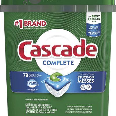 Cascade Complete ActionPacs, Dishwasher Detergent, Fresh Scent, 78 count – $13.86 ($0.18 / Count) (REG. $18.99 ($0.24 / Count))