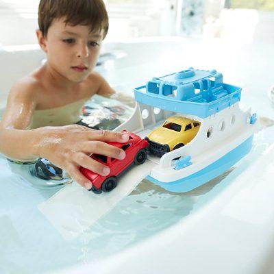 Green Toys Ferry Boat with Mini Cars Bathtub Toy, Blue/White – $11.09 (REG. $24.99) – Best Bath Toy EVER!