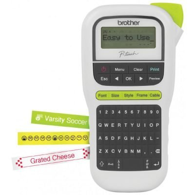 Brother P-touch, PTH110, Easy Portable Label Maker, Lightweight, QWERTY Keyboard, One-Touch Keys, White Just $29.99 (Reg.  $39.99)