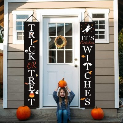 Trick or Treat & It's October Witches Halloween Signs for Front Door or Indoor Home Decor Just $10.66 (Reg $15.97)