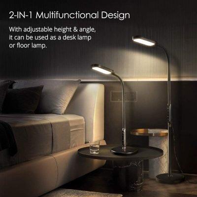 Miroco LED Floor Lamp with 5 Brightness Levels & 3 Color Temperatures, 1815 Lumens, Adjustable LED Floor Light – $36.99 (REG. $49.99)