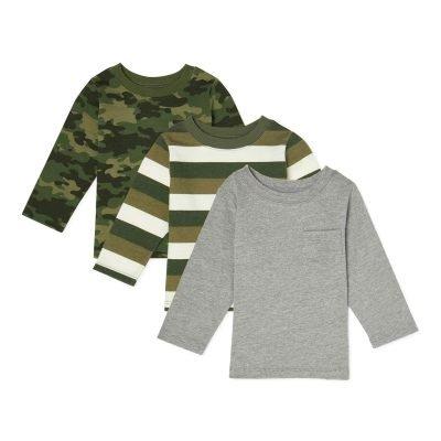 $6 (REG.  $11.94) – Garanimals Baby Boy Long Sleeve T-Shirts, 3-Pack