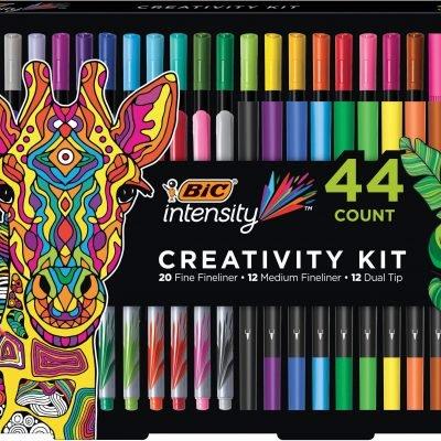 $19.99 (REG.  $39.99) – BIC Intensity Fineliner Creativity Kit 44ct with Storage Tray