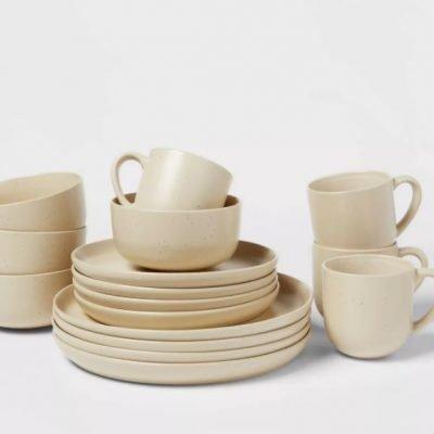 16pc Stoneware Tilley Fashion Dinnerware Set White – Project 62™ Just $42 (Reg $70)