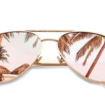 *HOT* $10.19  (REG. $16.99 )- SUNGAIT Women's Lightweight Oversized Aviator Sunglasses – Mirrored Polarized Lens
